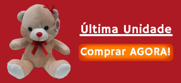Ursinho de Pelúcia (Mercado Livre) - Última Unidade
